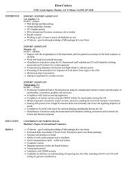 Import Resume Sample Export Assistant Resume Samples Velvet Jobs 11
