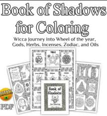 wiccan book of shadows wicca coloring book spell book magick pagan symbols