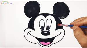 Hướng Dẫn Vẽ Chuột Mickey | Glitter Mickey Mouse coloring and drawing for  Kids - YouTube