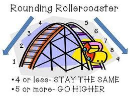 Rounding Rules Chart Rounding Rollercoaster Freebie