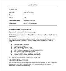 Job Description Template Word Impressive 48 Pharmacist Job Description Templates Free Sample Example