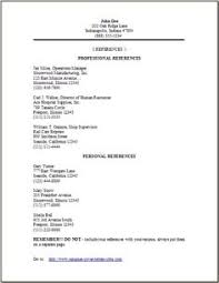 Reference Page Format - Job References Letter Format Format A List .