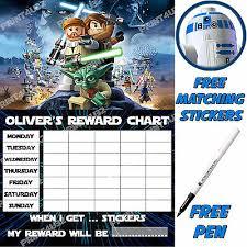 Star Wars Behavior Chart Reusable Reward Sticker Chart Lego Star Wars Stickers Pen