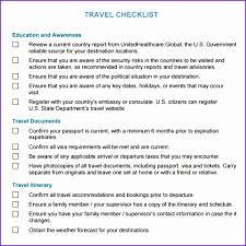 Travel Checklist Samples 6 Business Travel Checklist Bwbqny New