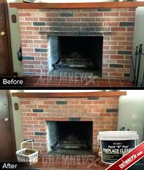 clean fireplace bricks smoke stains on a fireplace before and after being cleaned with paint n