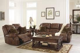 Furniture Ashley Furniture Leather Reclining Sofa With Bar Stool