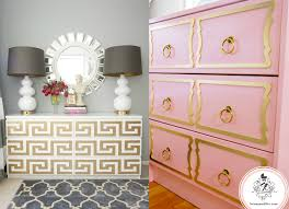 hack ikea furniture. Ikea Overlays Hack Malm Rast Dresser Dorothy Draper Diy Greek Key Gold Furniture
