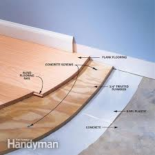 ... Amazing Laminate Wood Flooring Installation Installing Wood Flooring  Over Concrete The Family Handyman ...