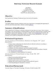 Veterinary Technician Resume Example Veterinary Technician Resume