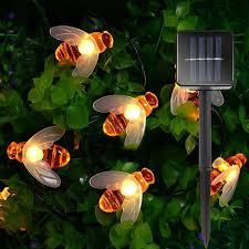 Orange Garden Lights Honey Bee Garden Solar Lights