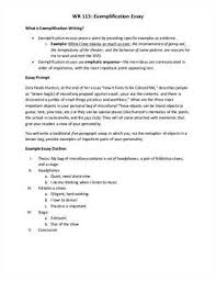 exemplification essay topic ideas Free Essays and Papers