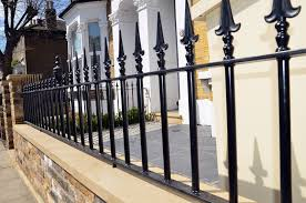 wrought iron fence victorian. Yorkstone Wall Coping Front Garden Design Company Mosaic Man London Victorian Wrought Iron Fence