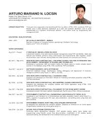 Example Of Resume Philippines Proyectoportal Com