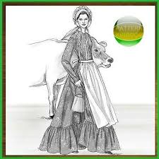 pioneer woman clothing drawing. late 1700s ladies colonial era dress patterns pioneer woman clothing drawing