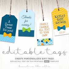 Baby Boy Gift Tags Favor Tags Template Printable Cutouts