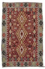 red vintage esme kilim rug 5 5 x 9 5
