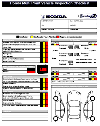 Vehicle Inspection Checklist Template Mous Syusa