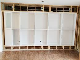 avery street design blog diy summer school ikea built ikeabookcasesdiyinstallation bookshelf wall bookcases childrens bookcase