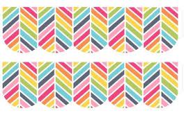 free printable borders teachers free rainbow herringbone bulletin border frame printable