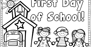 Small Picture First School Coloring Pages Cool First Day Of Kindergarten