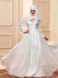elegant sweetheart neckline applique a line floor length muslim