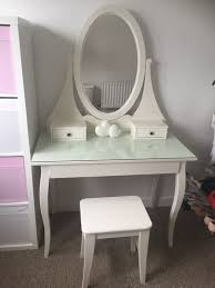 white ikea glass top dressing table