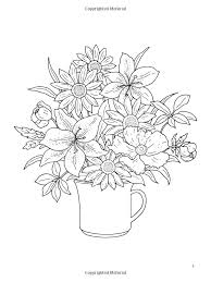 nature coloring book dover coloring book fl bouquets google search des on nature coloring page for