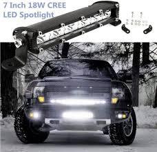 Suv Light Bar Amazon Com Ecosin 7inch 18w Led Work Light Bar Flood Spot