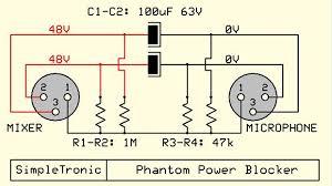 phantom power wiring diagram wiring schematics diagram phantom power wiring diagram wiring diagram data power con wiring diagram phantom power blocker