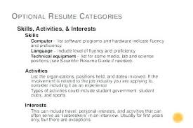 Personal Interests On Resumes Example Good Hobbies For Resume Interest In Job Interests And