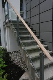 image of photo of exterior stair railing