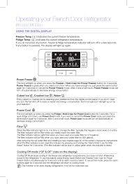 Samsung Fridge Light Off Operating Your French Door Refrigerator Rfg237 Model