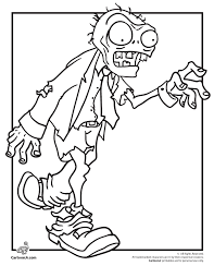 Zombie Coloring Page Woo Jr Kids Activities