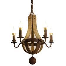 Us 17357 11 Offecolight Kostenloser Versand Vintage Kronleuchter 5 Leuchtet Holz Kronleuchter Lampe Loft Licht Retro Licht D50 H60cm In