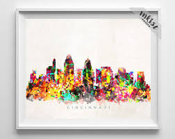 Small Picture Cincinnati skyline Etsy