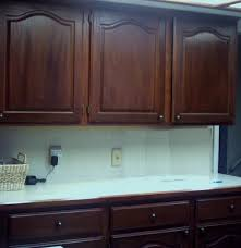 the restaining kitchen cabinets