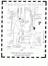 The Polar Express Coloring Page Coloring Home