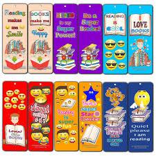 Creanoso Smiley Face Bookmarks Cards For Kids 60 Pack Emoji Emoticon Bookmarker Books Reading Rewards Incentives For Kids Boys Girls Classroom