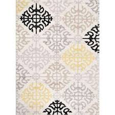 contemporary geometric design cream 7 ft 10 in x 10 ft 2 in