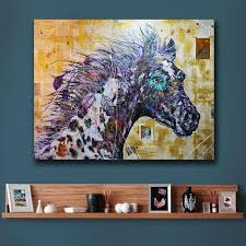 large wall art series black horse painting living room home decoration oil painting on canvas wall