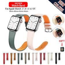 Dây Đeo Bằng Da Thật Cho Đồng Hồ Thông Minh Apple Watch Series 6 / 5 / 4 /  3 / 2 / 1 / Se Iwatch 38mm 40mm 42mm 44mm giá cạnh tranh