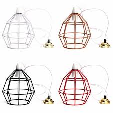 b22 vintage industrial style metal cage wire frame ceiling pendant light lamp shades 110 240v cod