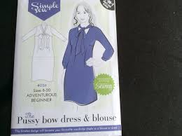 Simple sew pussy bow blouse and dress Patterns tops.