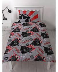 lego star wars imperial single reversible duvet cover set