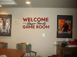 inspirational game room wall art home decor welcome game room with your family name sign vinyl decal image is loading ideas for on game room wall art ideas with inspirational game room wall art home decor welcome game room with