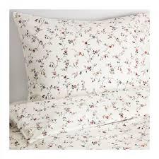ikea ljusoga queen full double duvet cover pillowcases set fl delicate flower sprays ljusà ga