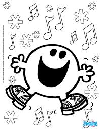 Coloriages Joyeux Noel Monsieur Heureux Fr Hellokids Com