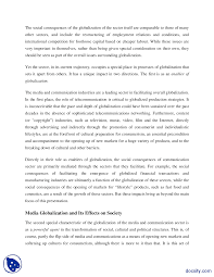 write an essay on globalization of communication globalization and technology essay 1769 words brightkite com