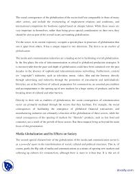 write an essay on globalization of communication globalization and technology essay 1769 words brightkite com