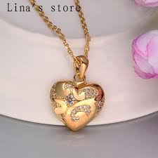 gold pendant design very beautiful gold rolo chain high quality heart shaped pendant